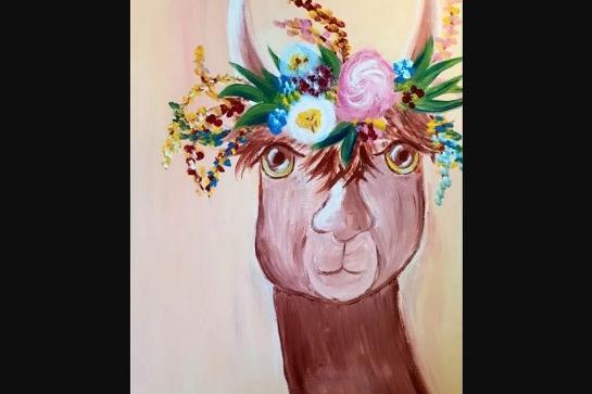 Paint and Sip Class - Llama Drama (Feb 03)