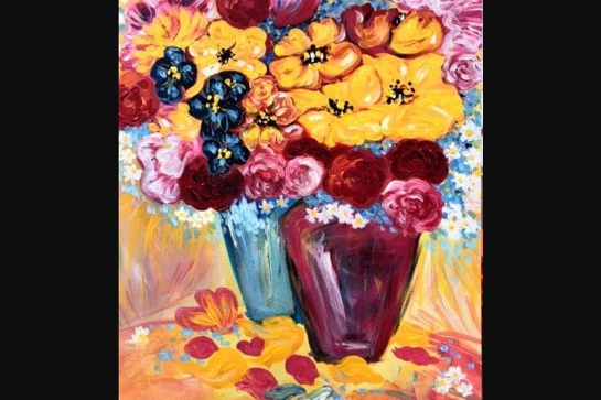 Paint and Sip Class - Pop of Colour