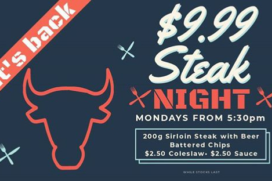 $9.99 Steak Night