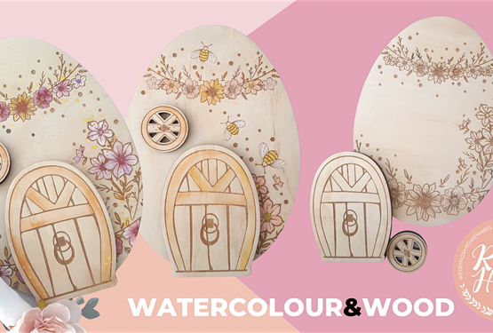 Watercolour and Wood - Easter Bunny House