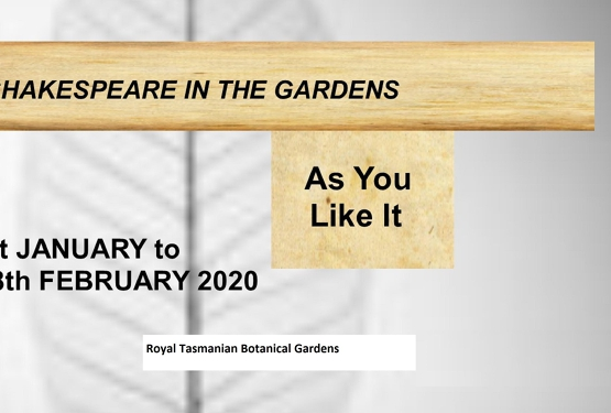 Shakespeare in the Gardens 2020 - As You Like It