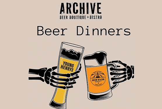 Young Henrys & Green Beacon Beer Dinner - Archive Beer Boutique
