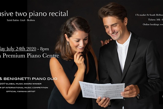 Spina & Benignetti Piano Duo at the Yamaha Premium Piano Centre Melbourne